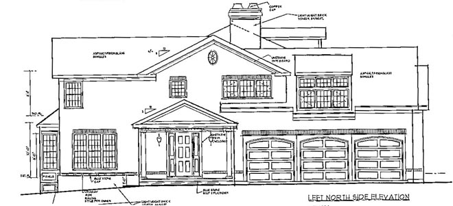 LEFT image of Grand Colonial House Plan