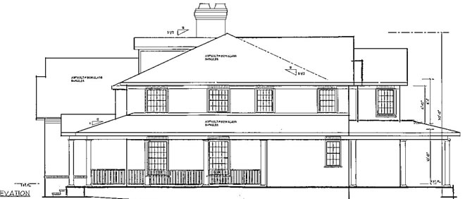 RIGHT image of Grand Colonial House Plan
