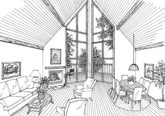 Interior Rendering by DFD House Plans
