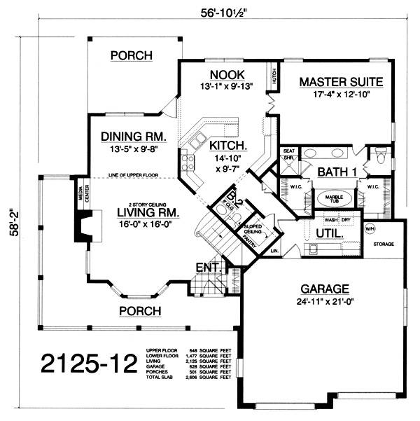 Ranch house plan with 3 bedrooms and 2 5 baths plan 2389 for Dfd house plans 1897