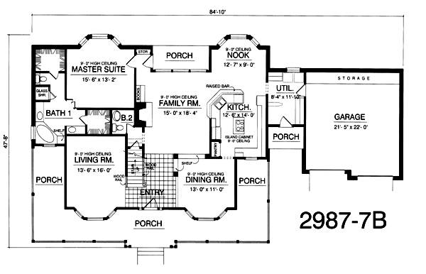 Ranch House Plan with 5 Bedrooms and 3.5 Baths - Plan 2836 on simple 5 bedroom house plans, simple 4 bedroom house plans, 4-bedroom brick house plans, 5 bedroom house with 4 car garage, 5 bedroom house blueprints, 5 bedroom houses with stone, big 5 bedroom house plans, cottage house plans, 5-bedroom victorian house plans, 3 bedroom house plans, traditional house plans, modern house plans, floor plans, 5 bedroom rambler house plans, 5 bedroom house with pool, 5 bedroom basement house plans, country house plans, luxury home plans, 5 bedroom tri level house plans, new ranch style home plans,