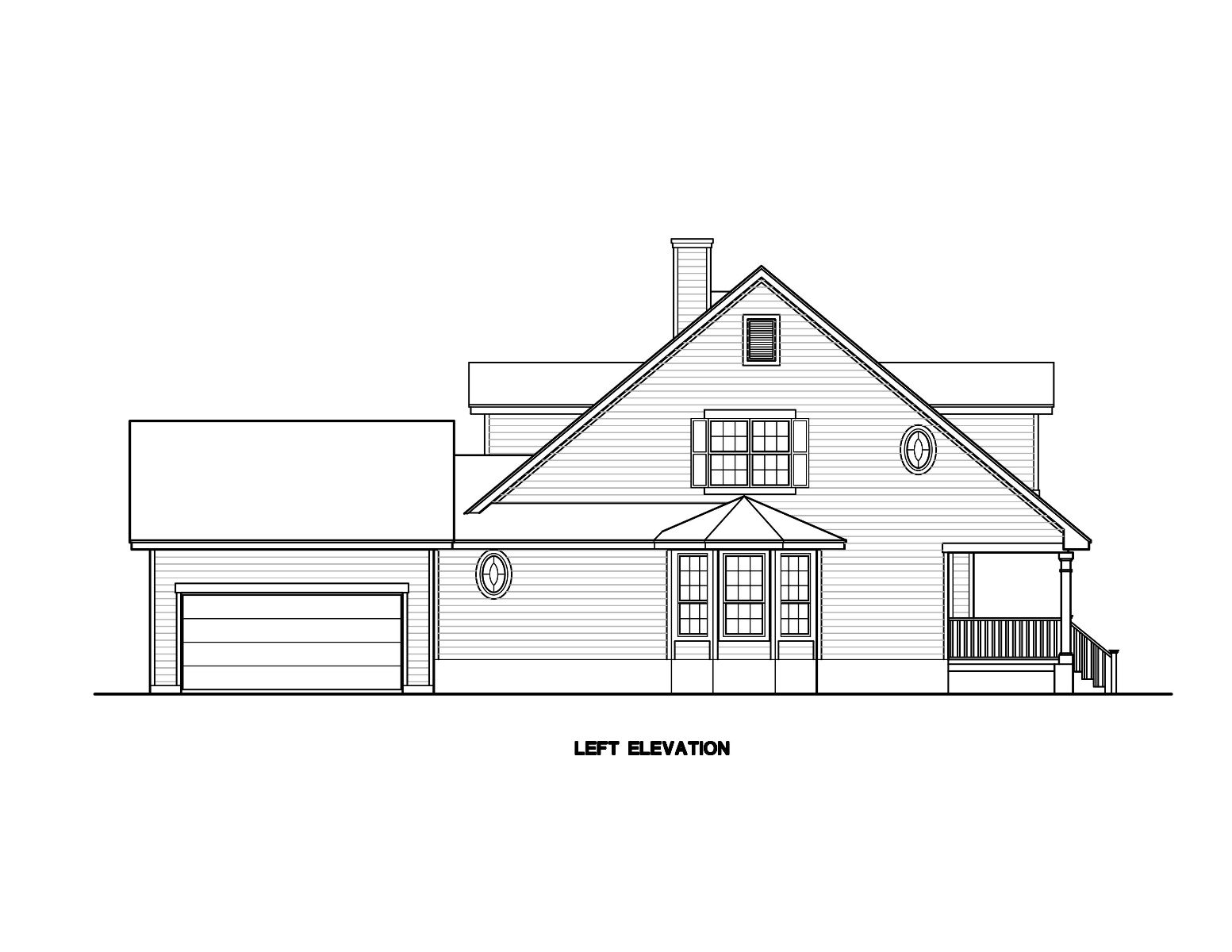 South Elevation by DFD House Plans