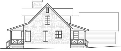 East Elevation image of The Woodville House Plan