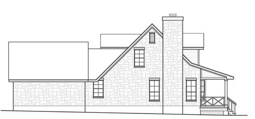 West Elevation image of The Woodville House Plan