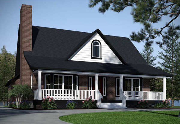 Front Rendering image of The Maybelle House Plan
