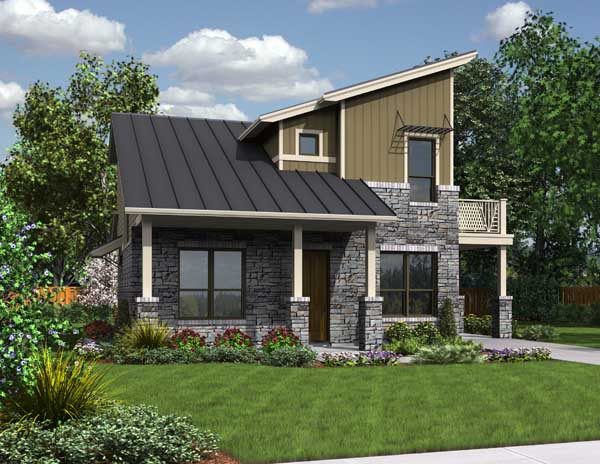 Front Rendering image of The Greenview House Plan