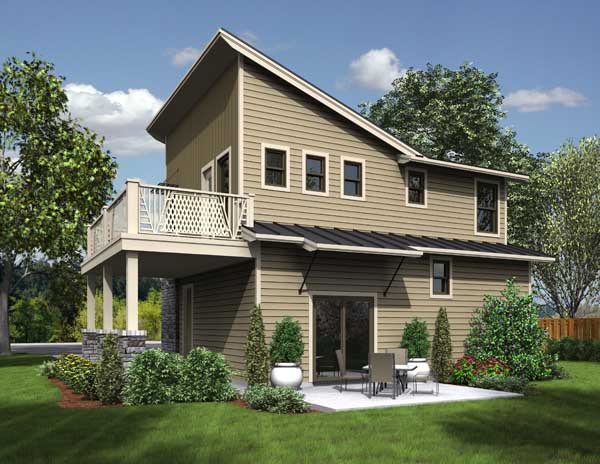 Rear Rendering image of The Greenview House Plan