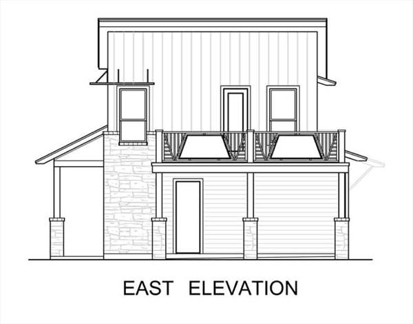 East Elevation image of The Greenview House Plan