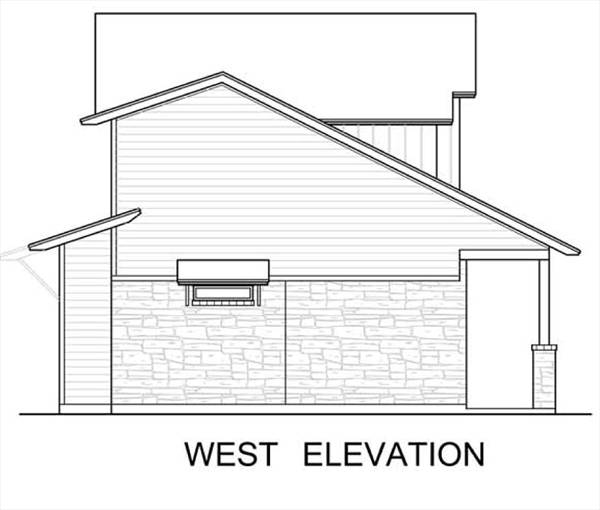 West Elevation image of The Greenview House Plan