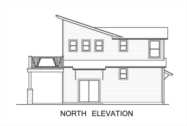 North Elevation image of The Greenview House Plan