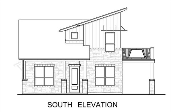 South Elevation image of The Greenview House Plan