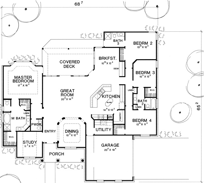First Floor Plan by DFD House Plans