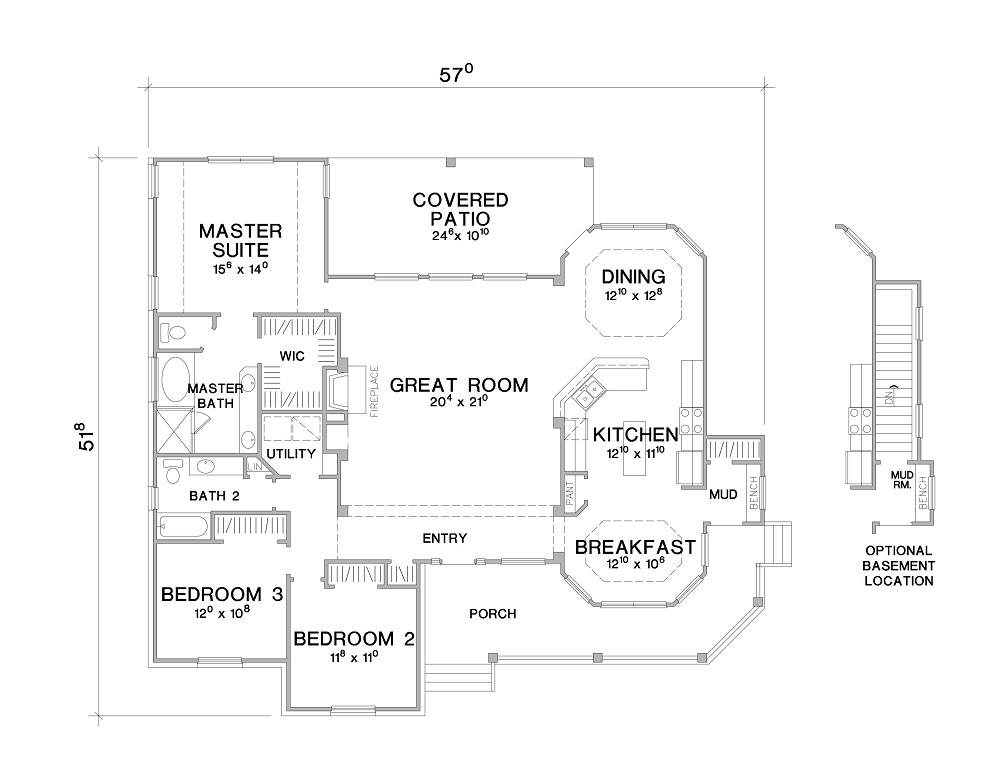 Country House Plan with 3 Bedrooms and 2.5 Baths - Plan 2904