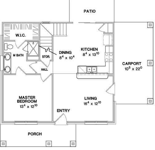 First Floor Plan image of The Greenview House Plan