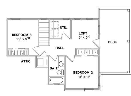Second Floor Plan image of The Greenview House Plan