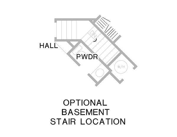 Optional Floor Plan image of The Ross House Plan