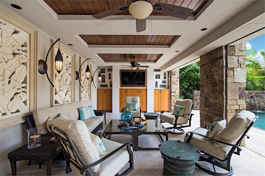 Covered Lanai by DFD House Plans