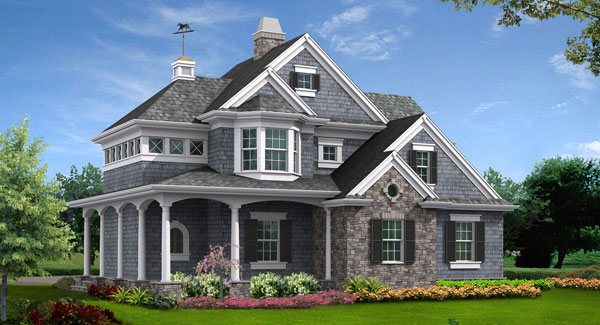 Front Rendering image of Astoria Cottage House Plan