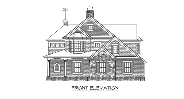 Front Elevation image of Astoria Cottage House Plan