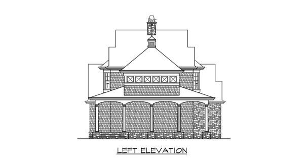Left Elevation image of Astoria Cottage House Plan