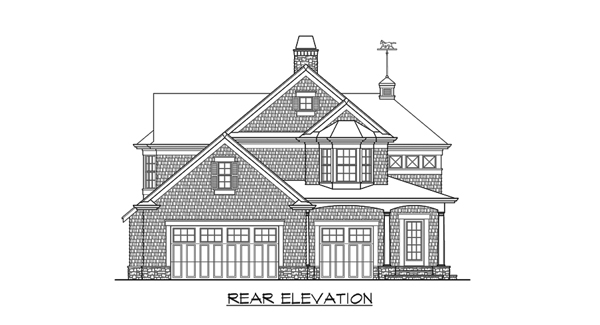 Rear Elevation image of Astoria Cottage House Plan