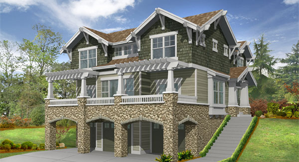 craftsman house plan with 3 bedrooms and 25 baths plan 3214 - Garage House Plans