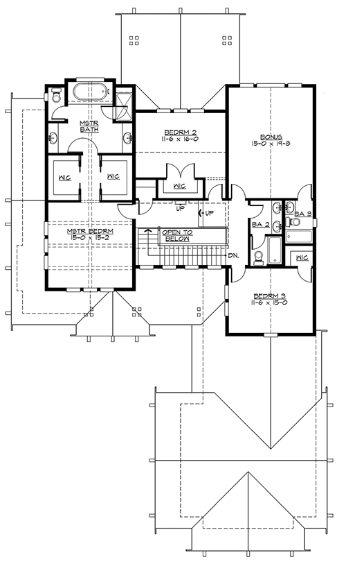 Upper Floor by DFD House Plans