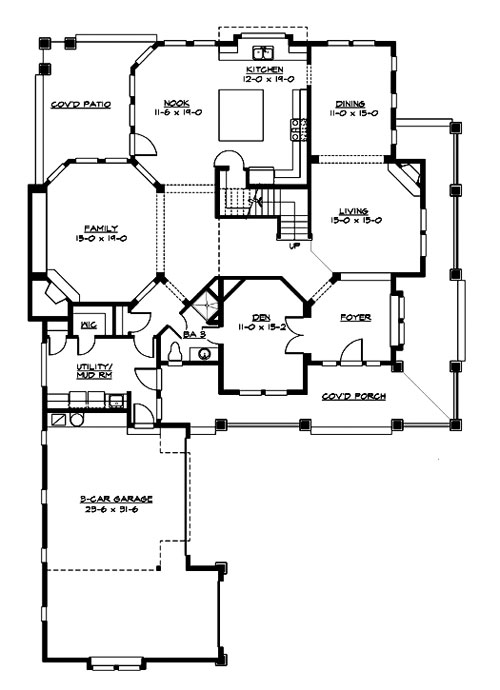 Craftsman House Plan With 4 Bedrooms And 3 5 Baths Plan 3228