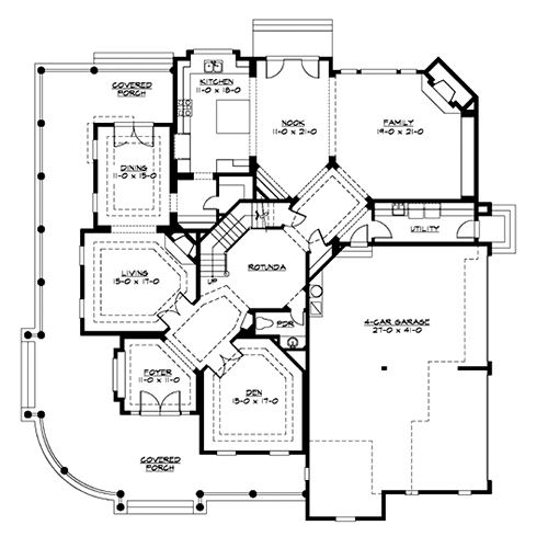 Country house plan with 4 bedrooms and 4 5 baths plan 3360 for Dfd house plans 1897