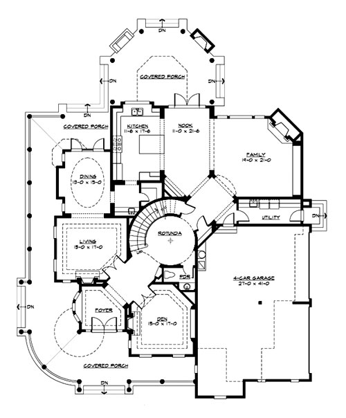 Victorian House Plan with 4 Bedrooms and 45 Baths Plan 3230