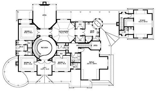 Country House Plan with 5 Bedrooms and 5.5 Baths - Plan 3231
