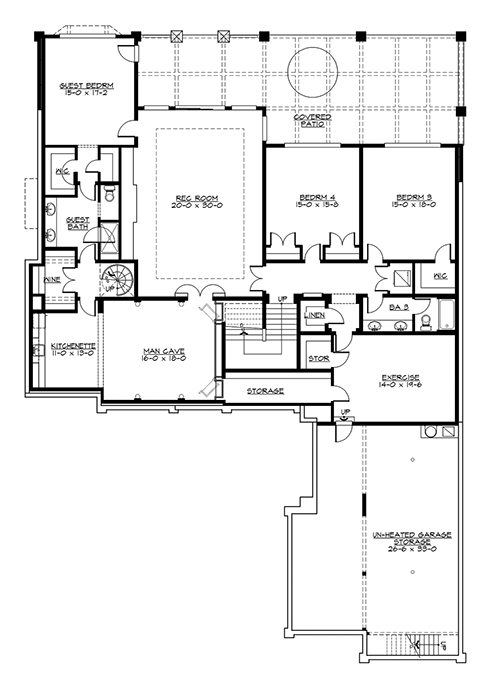 Lower Floor by DFD House Plans