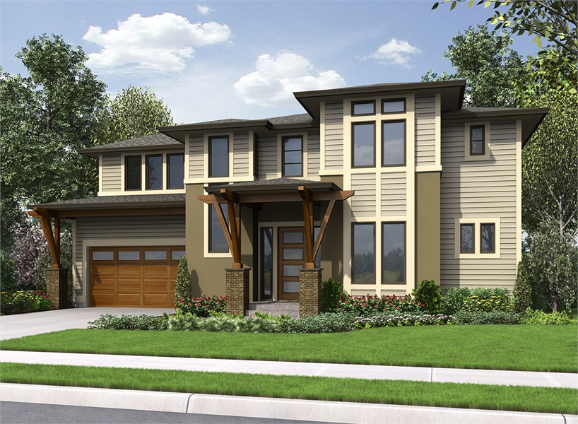 Front Rendering 2 by DFD House Plans