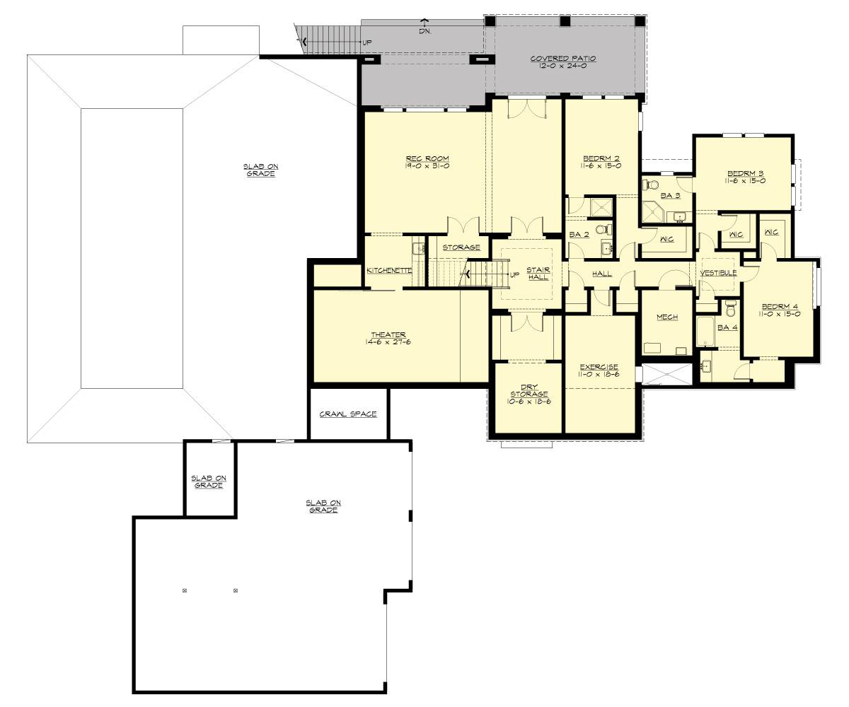 Lower Level Floor Plan image of Liliedale House Plan