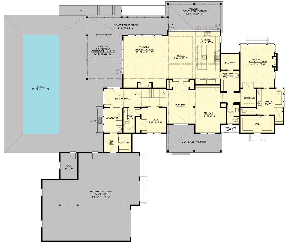 1st Floor Plan image of Liliedale House Plan