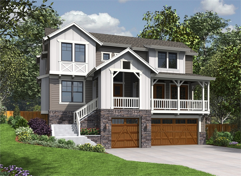 Front View image of Loganberry House Plan