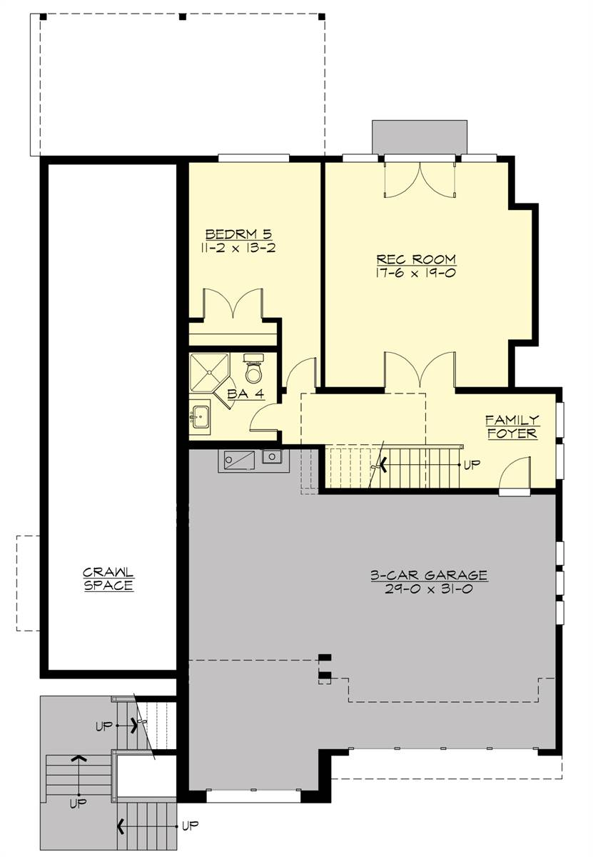 Lower Level Floor Plan image of Loganberry House Plan