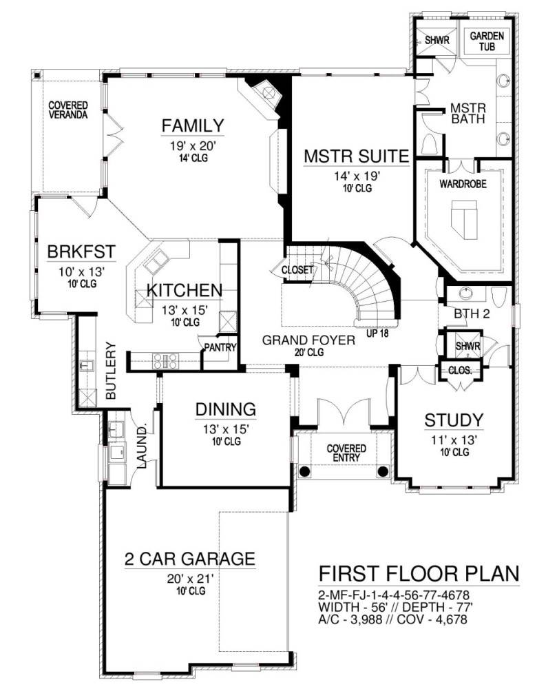 Front Floor by DFD House Plans