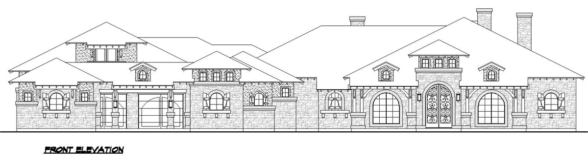 Front Elevation image of Sienna House Plan