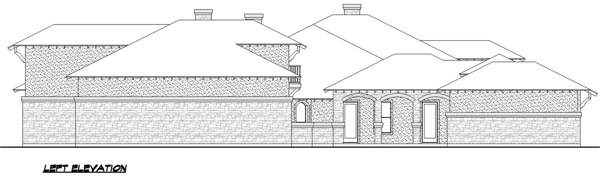 Left Elevation image of Sienna House Plan