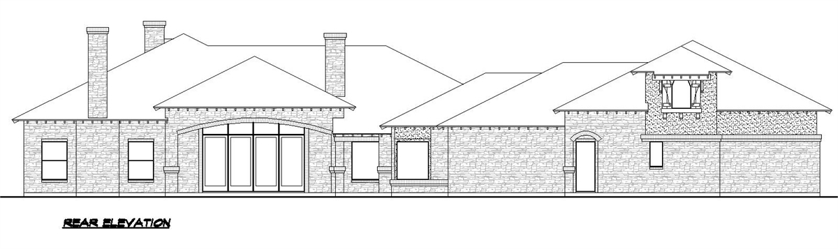 Rear Elevation image of Sienna House Plan