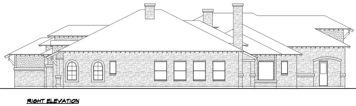 Right Elevation image of Sienna House Plan