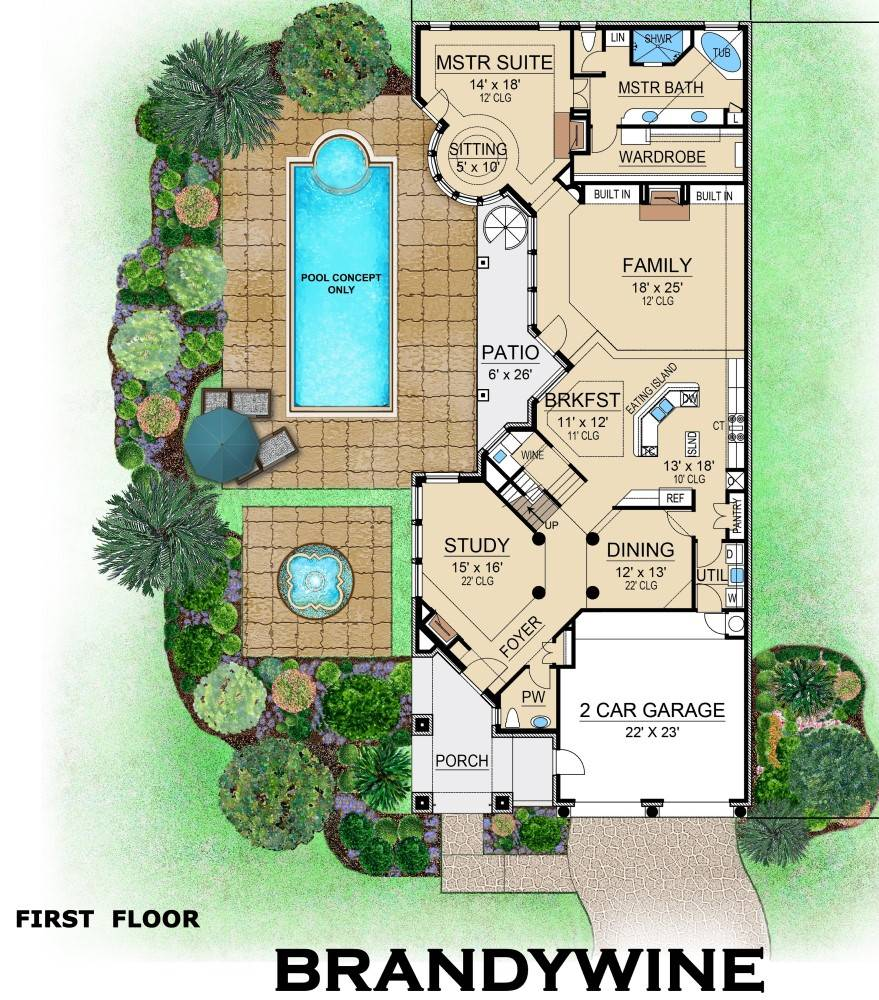 First Floor image of Brandywine House Plan
