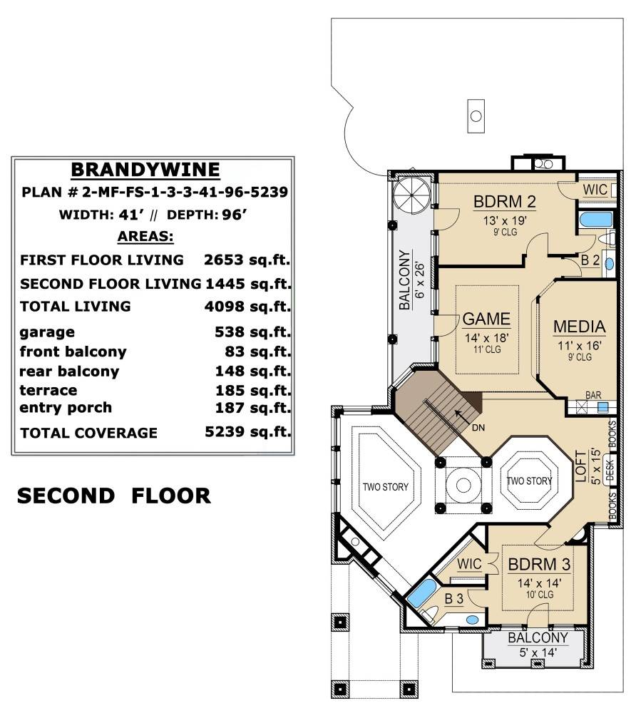 Second Floor image of Brandywine House Plan