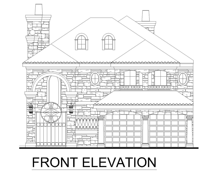 Front Elevation image of Brandywine House Plan