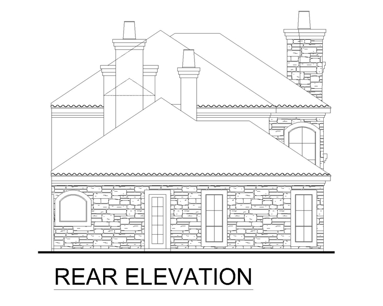 Rear Elevation image of Brandywine House Plan