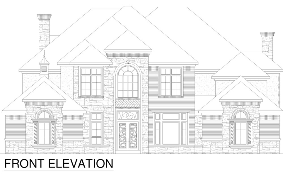 Front Elevation image of Tanglewood House Plan