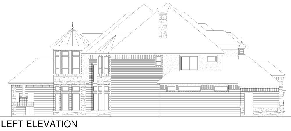 Left Elevation image of Tanglewood House Plan