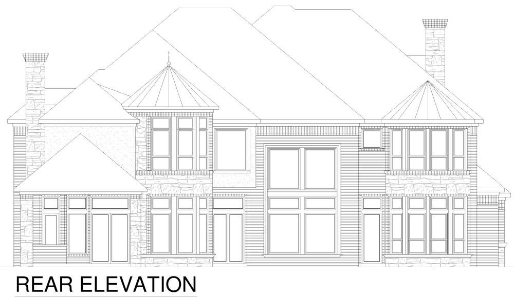 Rear Elevation image of Tanglewood House Plan