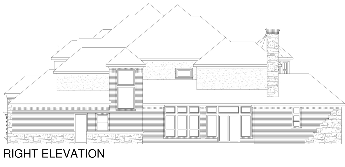 Right Elevation image of Tanglewood House Plan